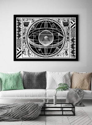 Sceno Systematis Astrology Black Print