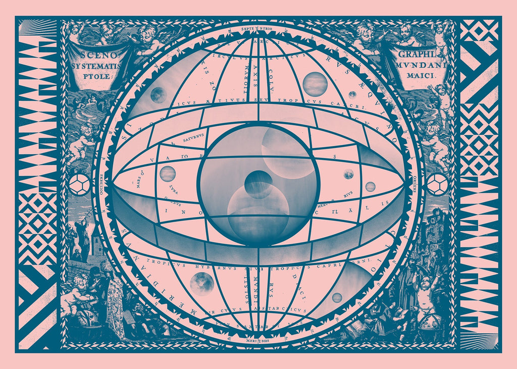 Sceno Systematis Astrology Pink Print