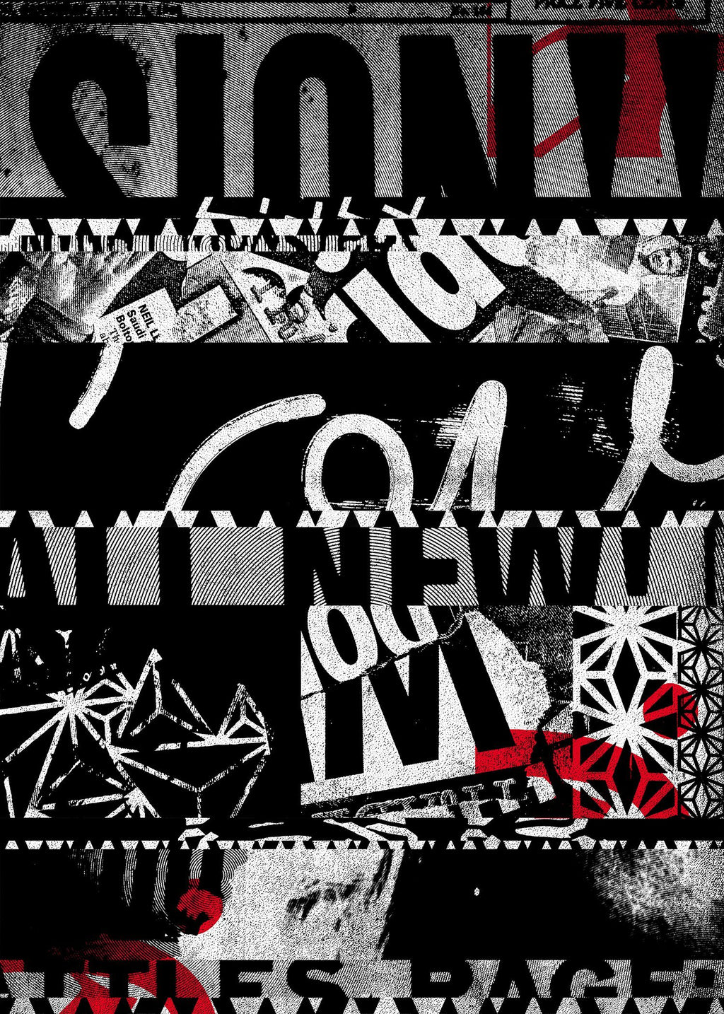 Shredded Abstract Typography 2 Print