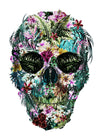 Tropical Skull White Print