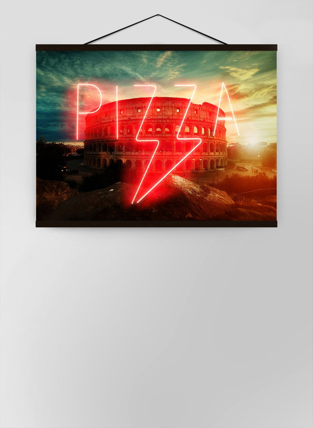 Pizza Sign Rome Neon Canvas