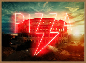 Pizza Sign Rome Neon Print
