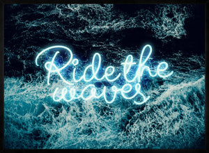 Ride The Waves Surf Neon Print