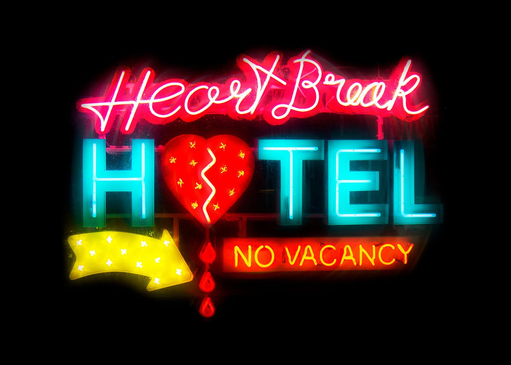Heartbreak Hotel Sign Neon Print