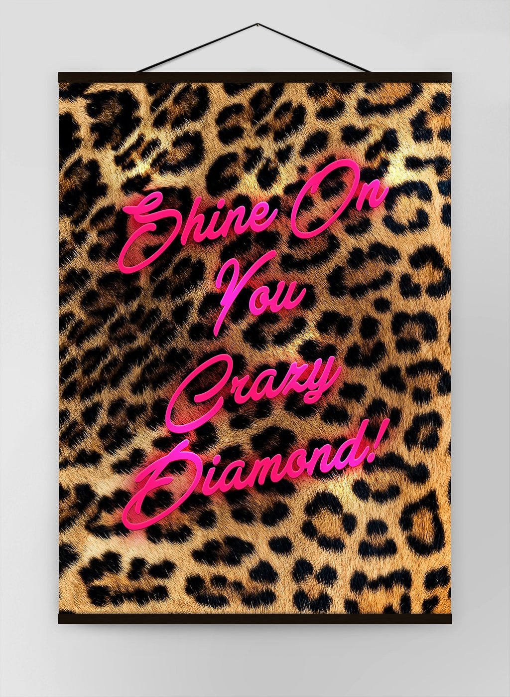 Shine On You Crazy Diamond Leopard Canvas