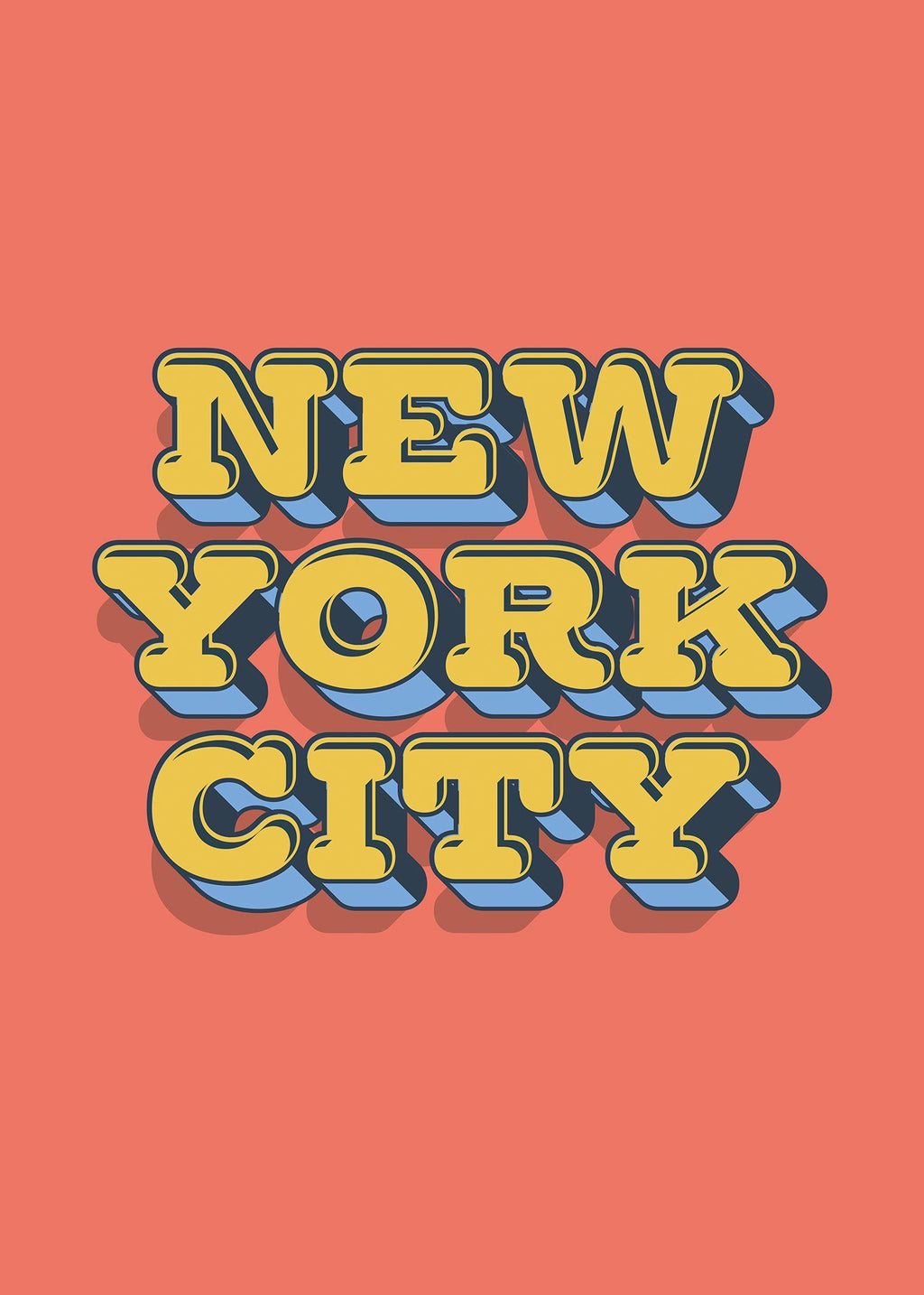 New York City Typography Print
