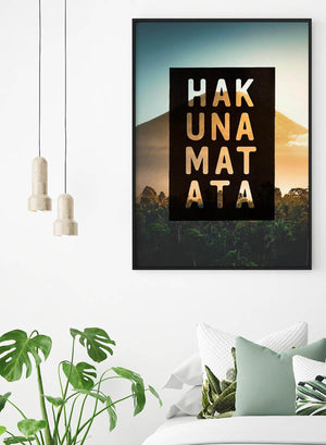 Hakuna Matata Lion King Quote Sunset Print
