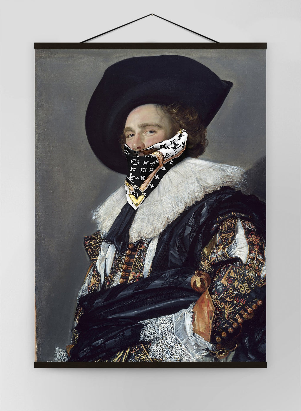 Gang Portrait Lv Scarf Canvas