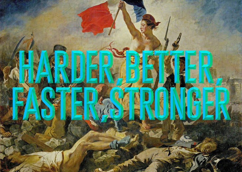Harder Better Typography Print