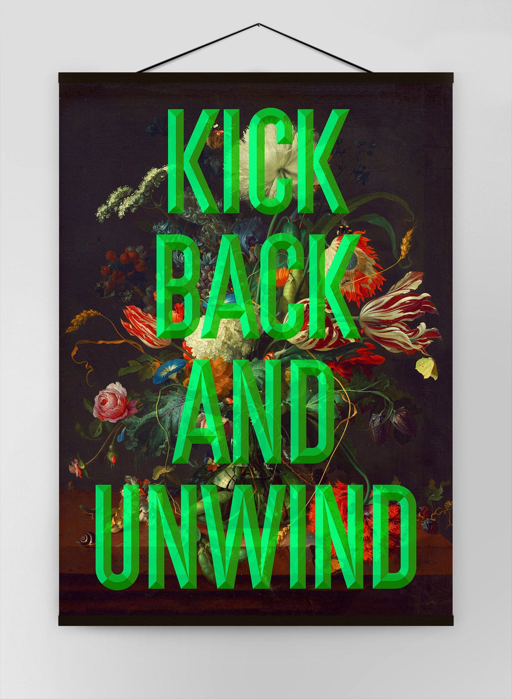 Kick Back Typography Canvas