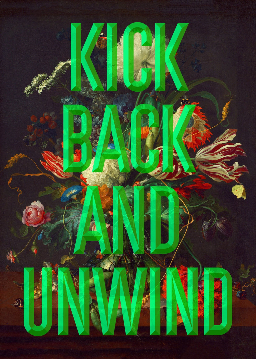 Kick Back Typography Print