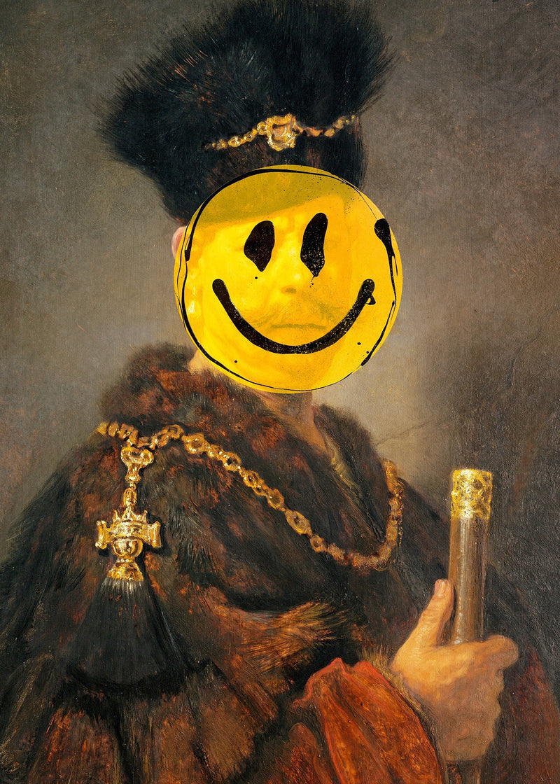 Nobleman Smiley Painting Print