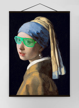 The Girl With The Green Shutter Shades Canvas Print