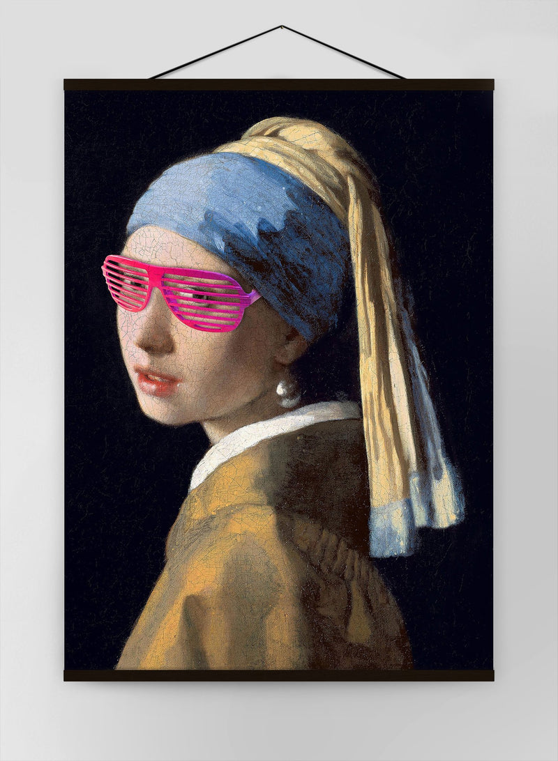 The Girl With The Pink Shutter Shades Canvas Print