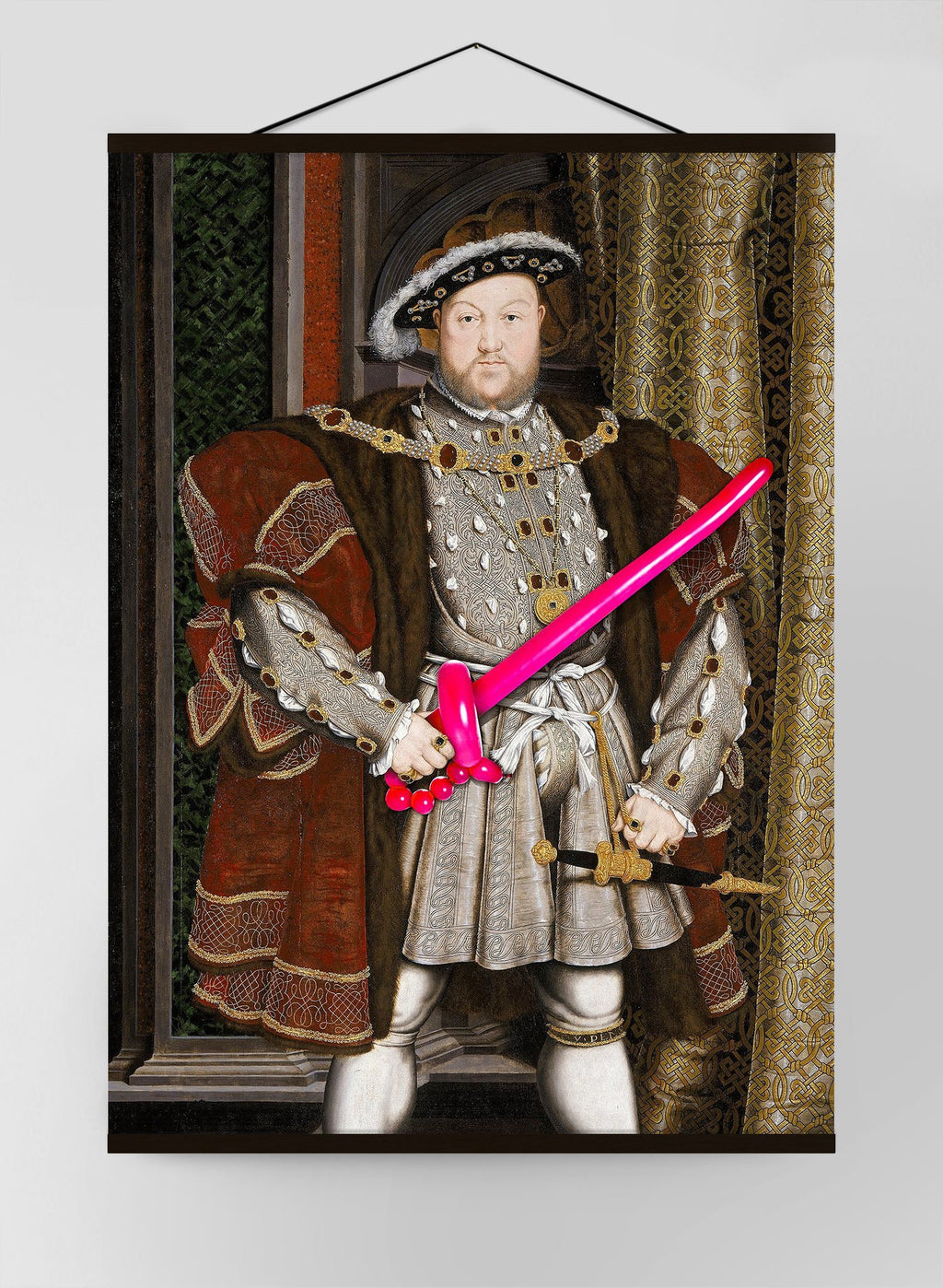Henry VIII Balloon King Canvas Print