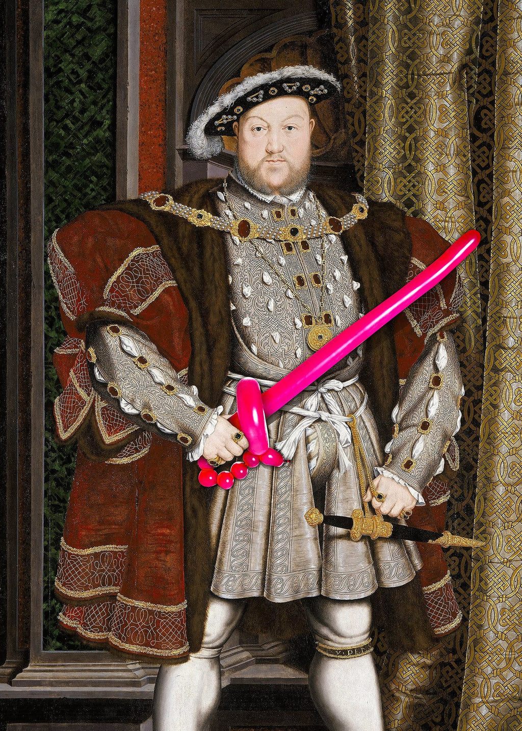Henry VIII Balloon King Print