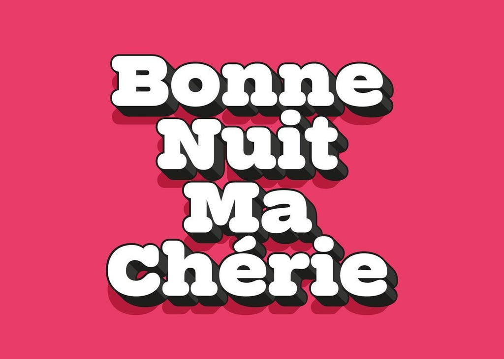 Bonne Nuit Ma Cherie Typography Quote Print