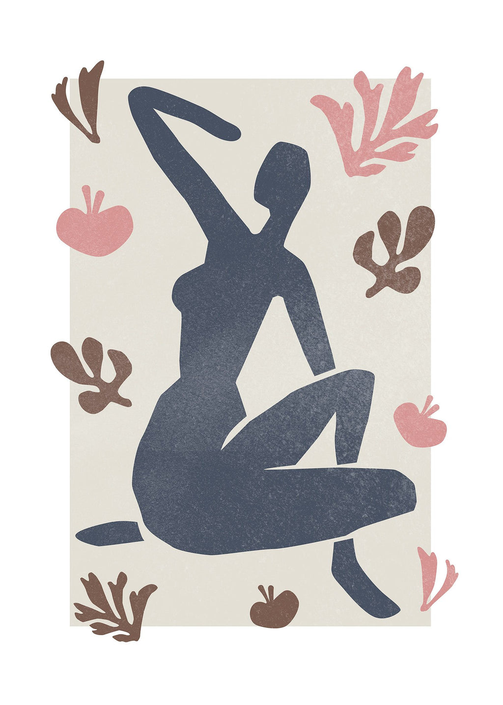Sitting Woman Watercolour Style Print