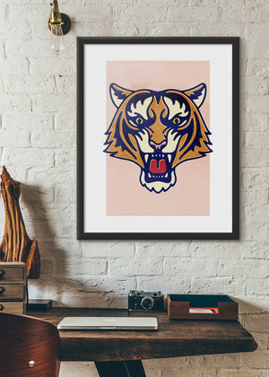 Tiger Animal Portrait Print