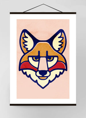 Fox Portrait Canvas Print