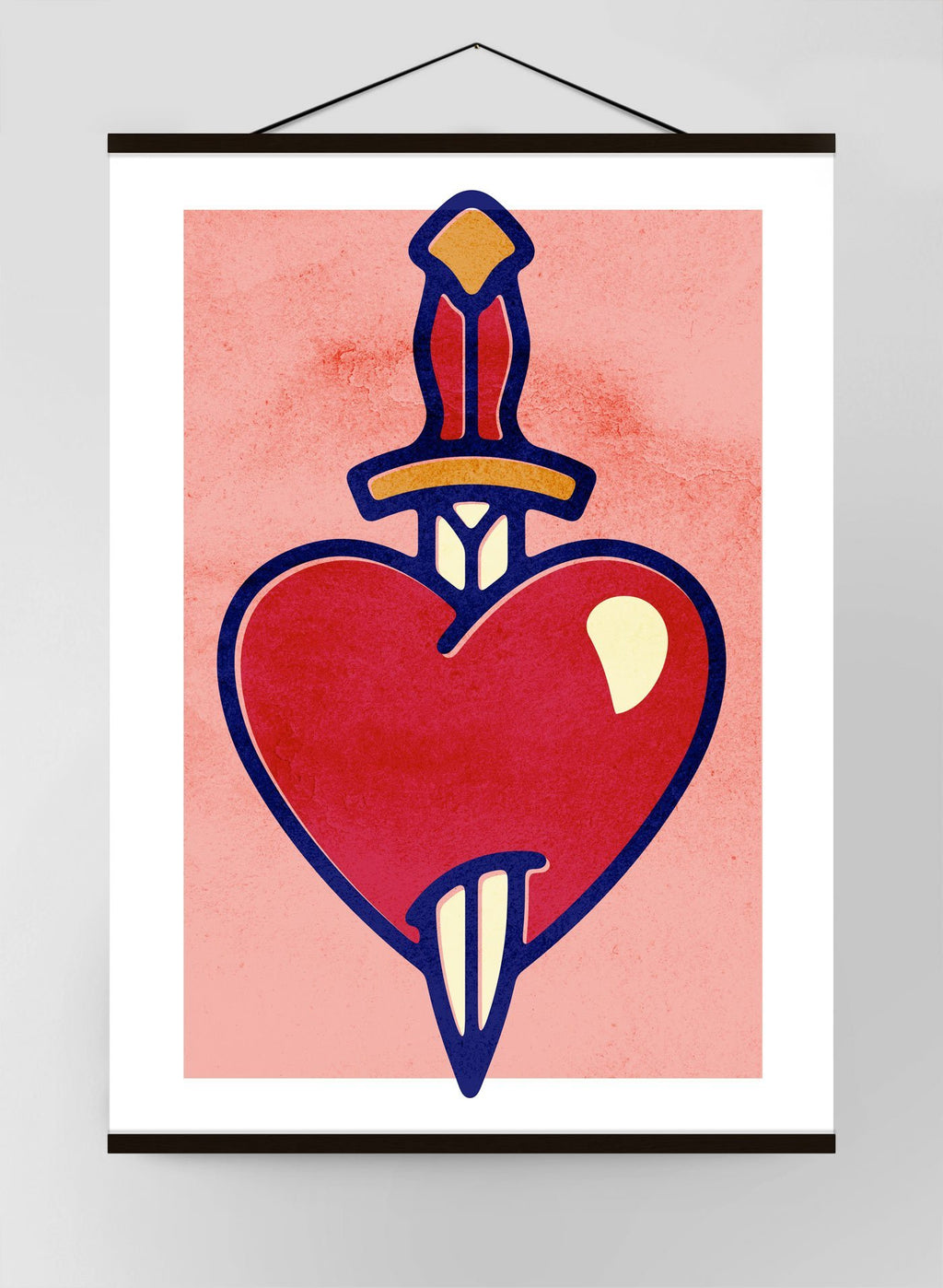 Heart And Dagger Canvas Print