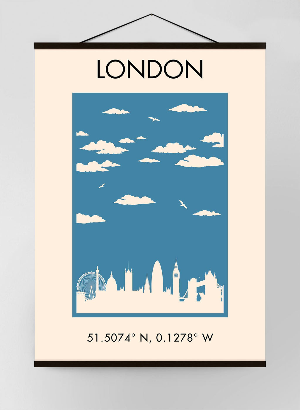 London Vintage Tourist Poster Canvas