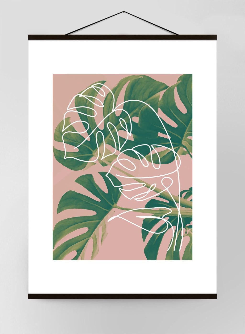 Monstera Minimal Canvas