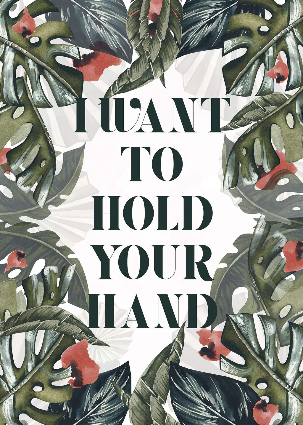 Hold Your Hand Lyrics Print