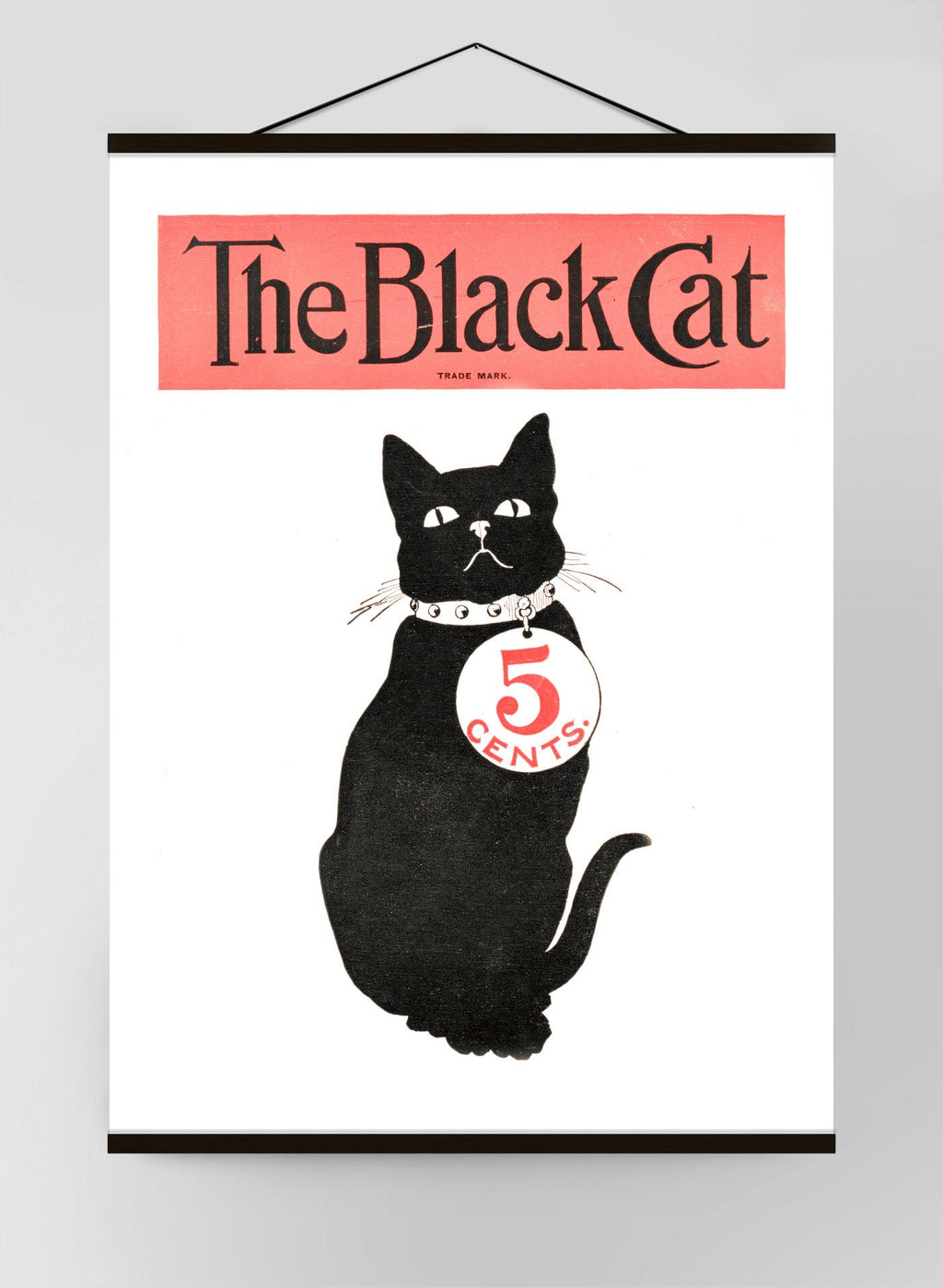 Black Cat Retro Halloween Canvas