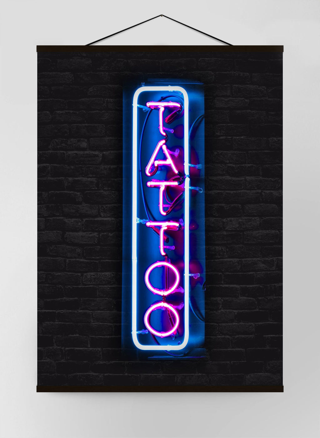Tattoo Neon Sign Photography Canvas