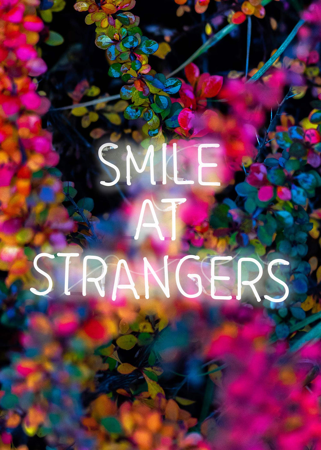 Smile At Strangers Neon Floral Print