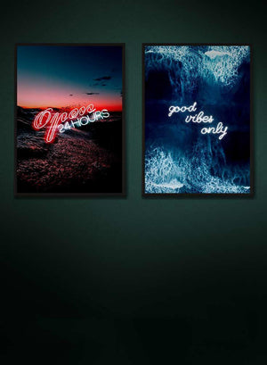 Good Vibes Ocean Neons Print Bundle