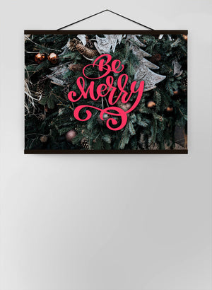 Be Merry Decorative Typographic Canvas