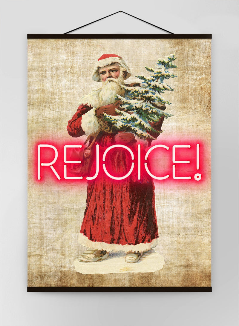 Vintage Rejoice Neon Canvas