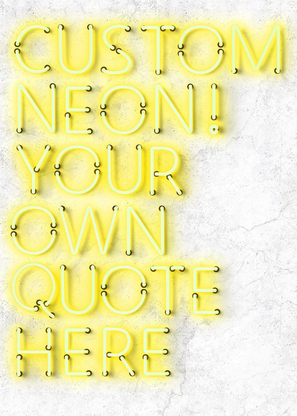 Custom Quote Straight Neon Print Yellow