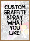 Custom Graffiti Stencil Print