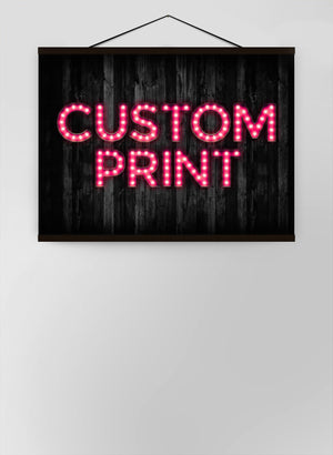 Custom Bulb Letters Pink Canvas