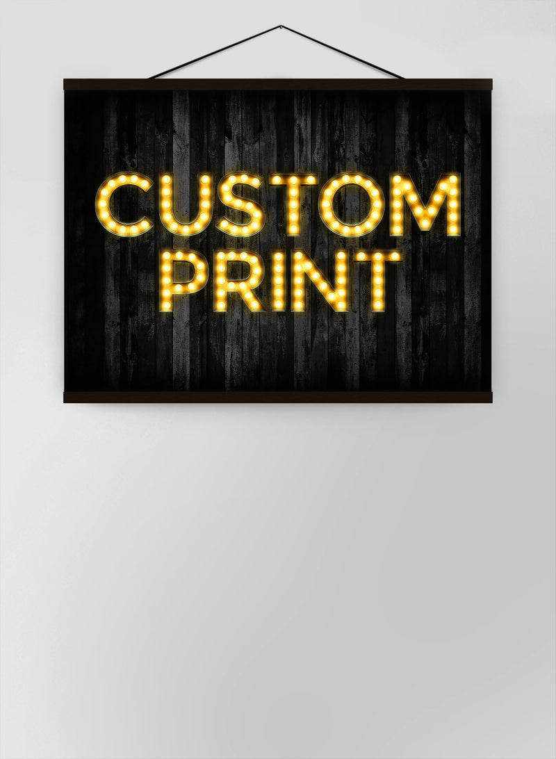 Custom Bulb Letters Yellow Gold Canvas