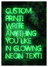 Custom Green Neon Sign Leaves Background