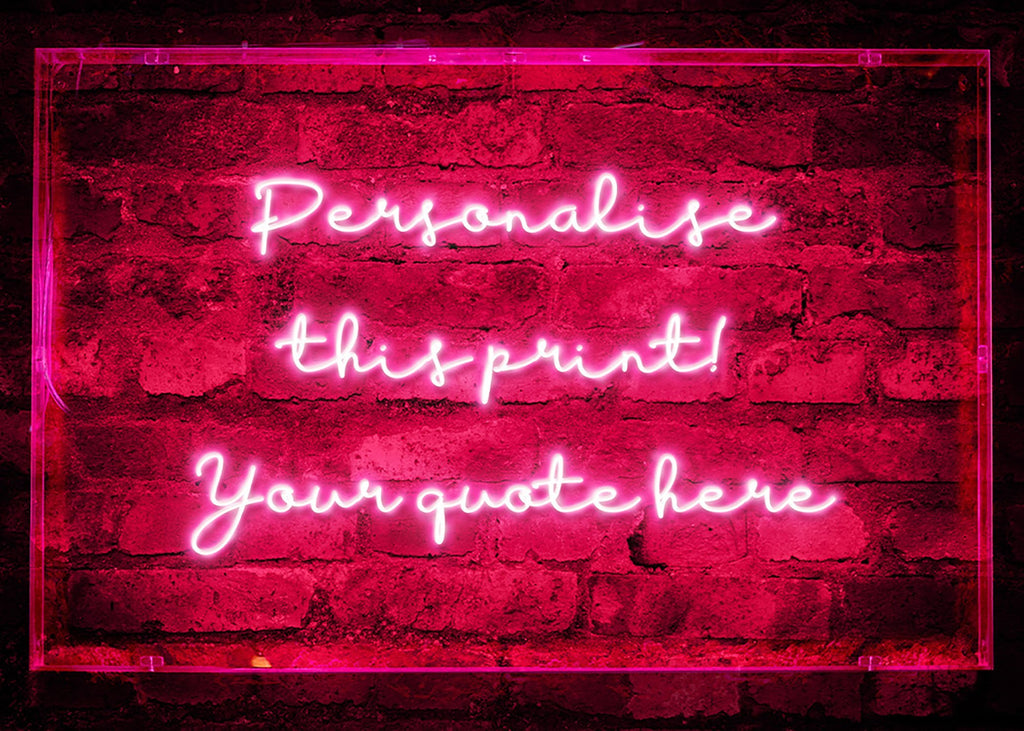 Custom Handwritten Neon Sign