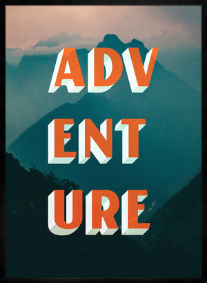 Adventure Typography Mountains Print