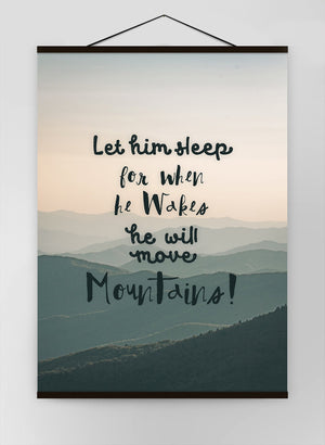 Let Him Sleep Mountains Quote Canvas