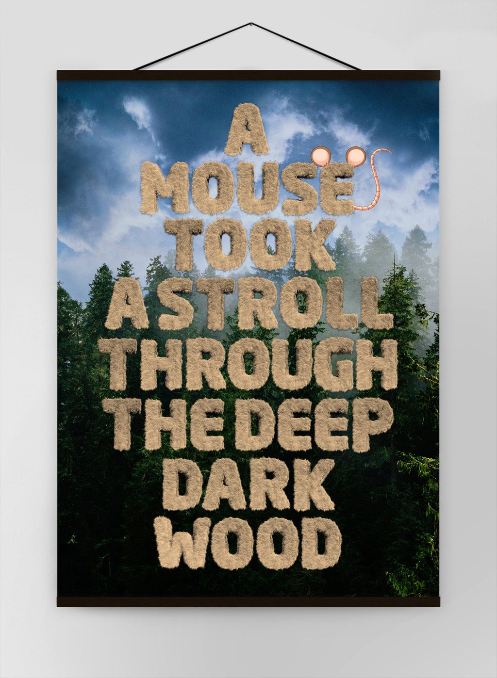 A Mouse Took A Stroll Book Quote Canvas