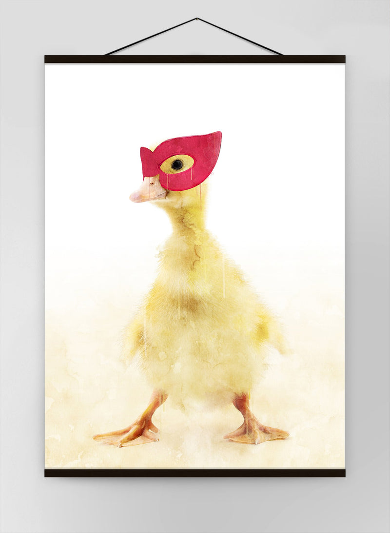 Super Duckling Little Heroes Animal Canvas