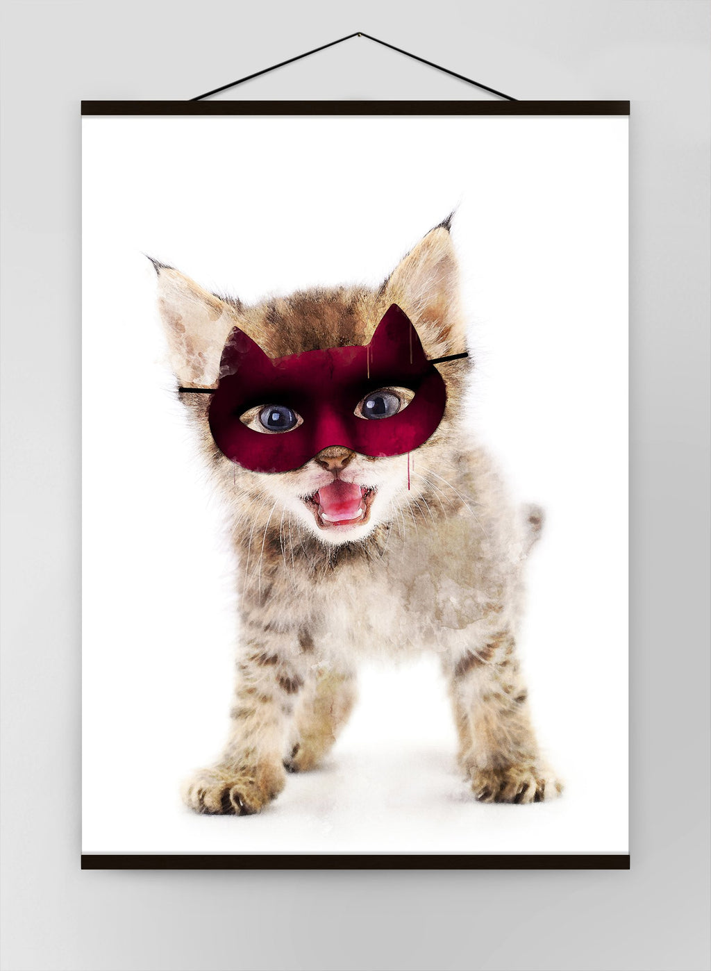Super Kitten Little Heroes Animal Canvas