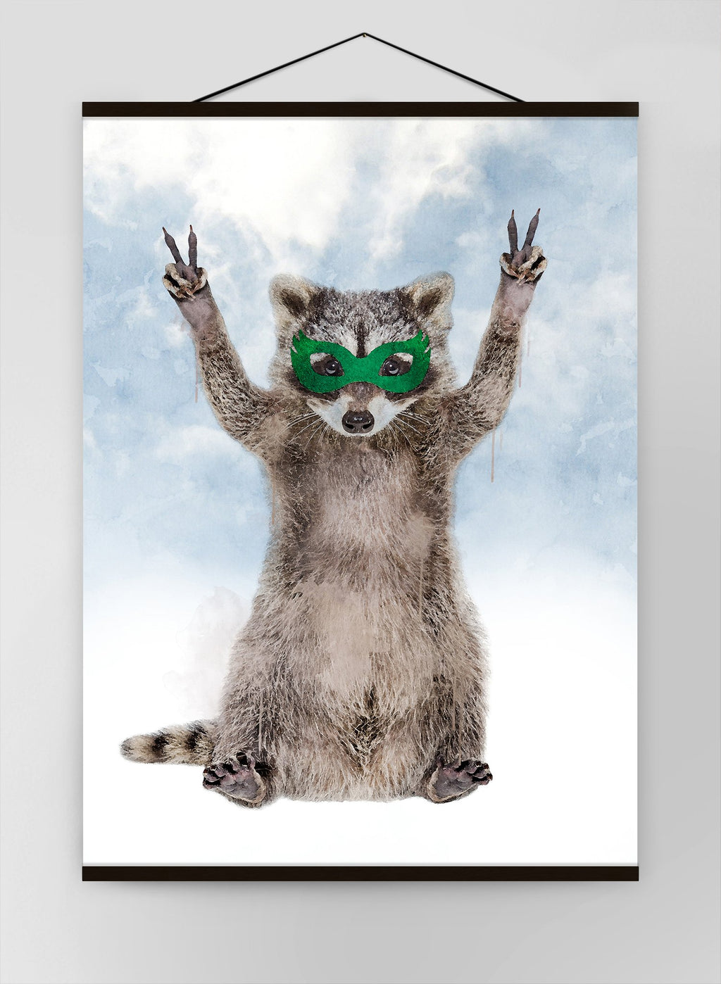 Super Raccoon Little Heroes Animal Canvas