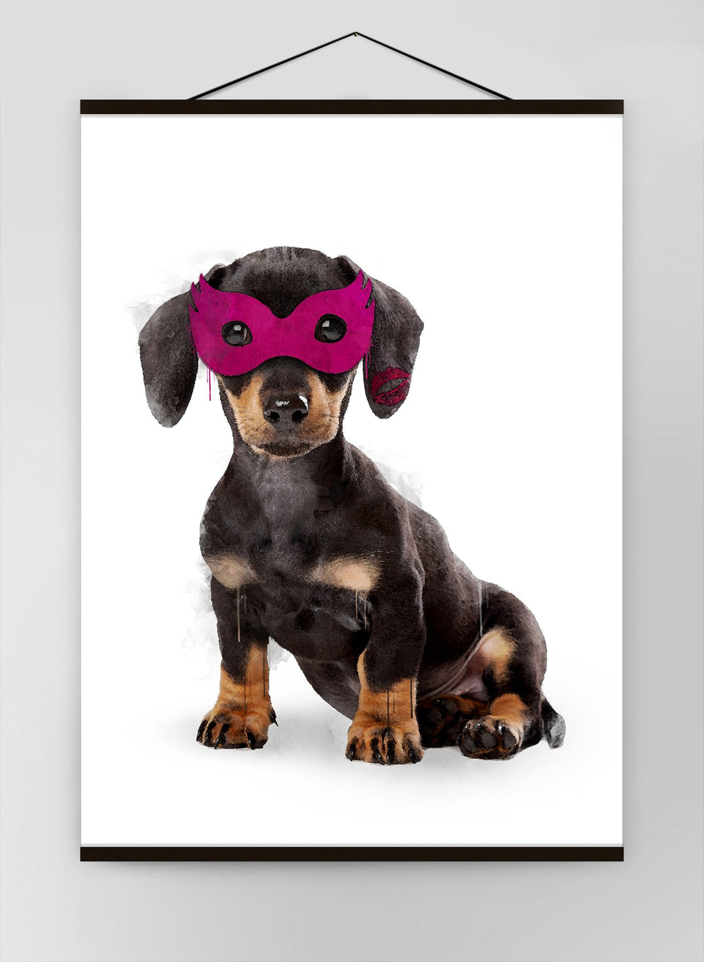 Super Sausage Little Heroes Dachshund Animal Canvas