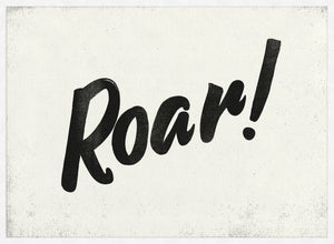 Roar Animal Noises Print