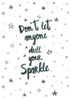 Sparkle Typography Quote Print