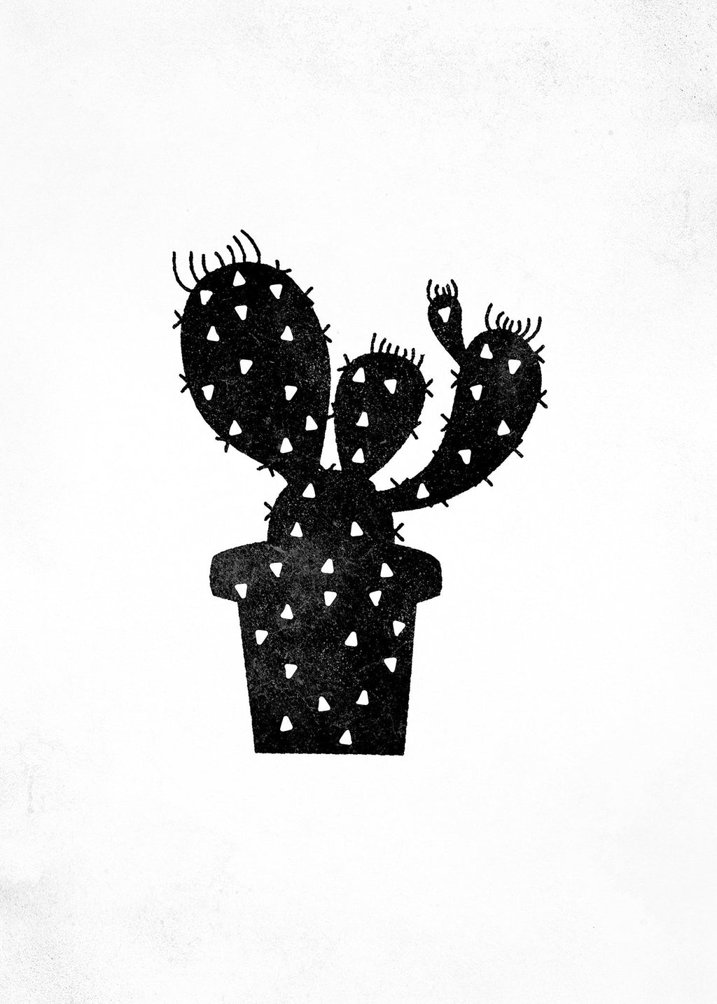 Cactus Silhouette Triangle Print
